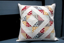 Quilted pillow covers / by Susan V