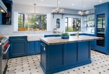 Blue for You - Cabinets, Kitchens & More / Blue is a universal color denoting calm and strength.  It's the color of the Sky and the Sea.  Like to bring it into your Kitchen or Bath in a beautiful way . . . here's some great idea's.  Let us help you take your dreams to a reality! http://www.cabinet-depot.com/