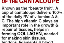 beautiful benefict of cantaloupe