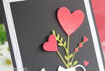 Valentijnkaarten / Kaarten die u aan een geliefde wilt sturen.