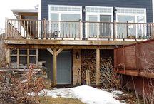 Under Deck Shed Idea / How to build a storage area under your raised deck? Design Idea.