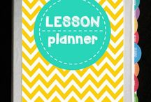 Lesson Planners / Lesson planner ideas to help keep your preschool, kindergarten or homeschool materials organized.
