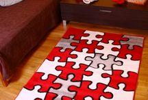 Pokój dla dziecka / Kolekcja dywanów przeznaczonych do dekoracji pokoju dla dziecka