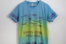 Camisetas hombre mujer / Camisetas de algodón teñidas y estampadas