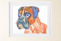 psí kresby