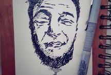 fast pen portraits