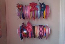 diy ideas to organize your hair bows and others.