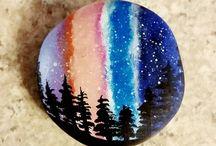 πολυχρωμες  πετρες και κοχυλια
