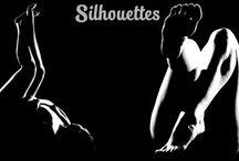 """Silhouettes / O projeto Silhouettes"""" trabalha as formas do corpo apenas com a incidência de um contraluz e ressalta as linhas e profundidades de modelos comuns e voluntários, valorizando todos os tipos de corpo. Os idealizadores são o fotógrafo Thiago Marzano e a produtora Camila Chapetzan."""