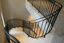 Stone Staircase / Stone clad staircase in marble, granite, limestone and slate