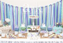 A&K Lolly Buffet {Purple & Aqua Coastal Engagement Dessert Table} / http://aandklollybuffet.com.au/coastal-engagement-party-dessert-buffet/
