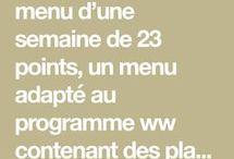 menu ww