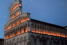 Lucca / A board about Lucca, Tuscany, location of our school of Italian language and culture