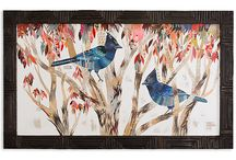 birds in art / From crows and owls to egrets and warblers, birds wing their way into our imaginations, delighting us with their colorful feathers and songs. Artists take inspiration from birds, creating works of art that capture all the beauty, elegance, and personality of these feathered fauna. / by Artful Home