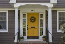 Siding / Front door / by Rebekah Mitchell