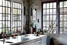 Industrial Kitchens || Chic Living Clique