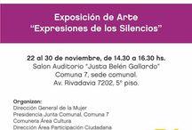 """Expo en Comuna 7 """"Expresiones de los Silencios"""" Día Internacional De La No Violencia Hacia La Mujer"""