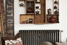 Wood box arrangements
