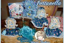 FORTUNELLA / FORTUNELLA Bambolina personalizzata con nome e segno zodiacale. Cucita interamente a mano ..profumatissma.