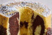 Torta fluffosa marmorizzata