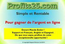 Profits25 / Investissement en coupons et bannières publicitaires en ligne