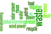 environment and energy / word cloud promoting green environment