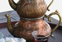 Turkish tea pot / Turkish tea pot is a special 2-part pot for brewing black tea leaves and getting that unforgettable aroma of Turkish tea.