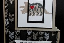 Stampin up no bones about it / dinosaurs