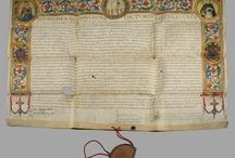 medieval letters - mittelaterliche Urkunden - středověké listiny