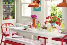 Dining Spaces Inspiration / Beautiful places to gather. Formal, to informal--inspiring places to enjoy food, friends and family!