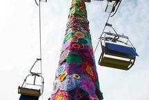 Yarnbombing / Yarnbombing. The act of knitting graffiti. Beautiful displays of creativity from all over the world.