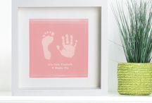 Baby Hand Print Keepsakes / A collection of gifts and keepsakes featuring baby hand and foot prints
