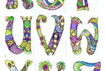 Mandala bogstaver