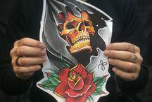Эскизы для татуировок / Tattoo sketch / Эскизы для татуировок/ Идеи для татуировок, выполнены мастерами студии Maruha на Парке Победы, СПб