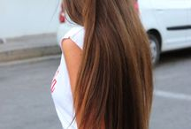 | long brown hair
