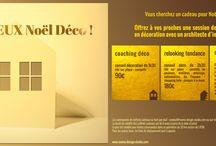 Vous cherchez un cadeau unique ? / Noël s'approche. Vous cherchez un cadeau unique ? Offrez à vos proches une session de conseil en design - déco. Vous pouvez commander même en dernière minute et imprimer un bon cadeau à tout moment !