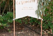 Wedding signs/copper pipes