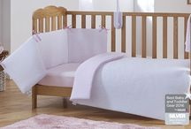 Pink Cot Bed Bedding for Baby Girl's Nursery / Expecting a little girl? Designing a nursery and looking for inspiration? Here's a collection of stunning cot & cot bed quilt and bumper sets - all in pretty pink!