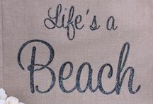 ♡ Personalised Beach Bags / www.hunnibunniboutique.co.uk