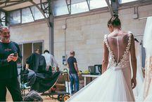 Alessandro Angelozzi Couture Shooting / Alessandro Angelozzi #Couture presenta la sua collezione di abiti da sposa e Bianca #Balti diventa la sua musa per un giorno.  Magia e vera moda allo Studio Daylight #Roma!