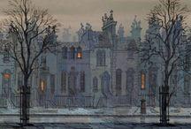 Mid Century Architecture in Illustration