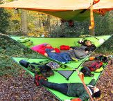 Trillium Hammock / The multi-person platform hammock, that can be used separately or in combination with other Tentsile tents! The Trillium is our amazing triple hammock!