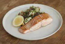 salmon & warm potato salad