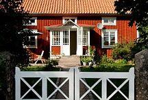 Gamla röda hus
