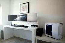Pc desk setup
