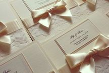 Lace Stationery (our work) / Beautiful lace invitations, place cards, seating plan, table numbers, post box, guest book and more.  Contact us for a quotation www.amanda-jane.co.uk