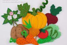 frutas en fieltro