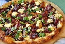 Pizza prosciutto & goat cheese