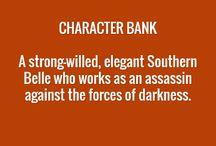 Writing:Character Bank