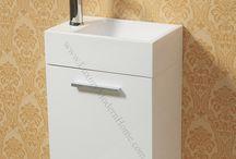 "Vanity Sinks - ALEXIUS WHITE Wall Mount Hung / Vanity Sinks - ALEXIUS WHITE Wall Mount Hung  16"", 20"", 24"", 30"", and 36"""